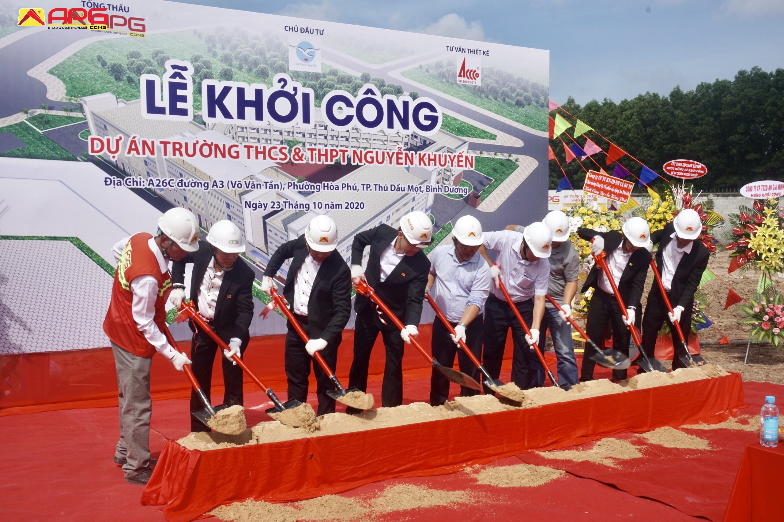 THE GROUNDBREAKING CEREMONY OF NGUYEN KHUYEN SECONDARY AND HIGH SCHOOL PROJECT
