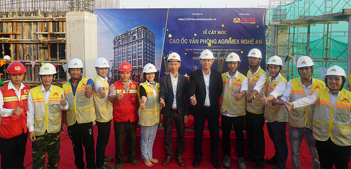 AN PHU GIA CONSTRUCTION TOO HOLDING RIGHTLY PROGRESS OF AGRIMEX OFFICE PROJECT OF NGHE AN OFFICE