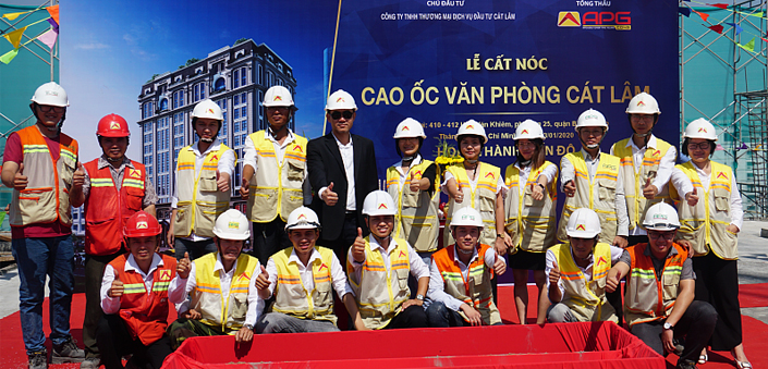 APGCONS ORGANIZED THE CEREMONY OF CEREMONY OF CAT LAM OFFICE PROJECT